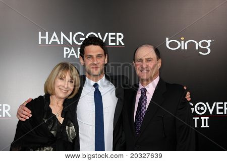 LOS ANGELES - MAY 19:  Justin Bartha, Parents arriving at the