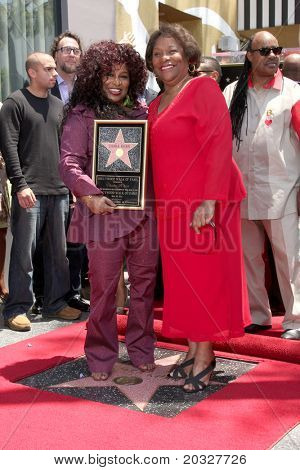 LOS ANGELES - MAY 19:  Chaka Kahn & Mother Sandra at the Chaka Kahn Hollywood Walk of Fame Star Ceremony at Hollywood Blvd on May 19, 2011 in Los Angeles, CA.