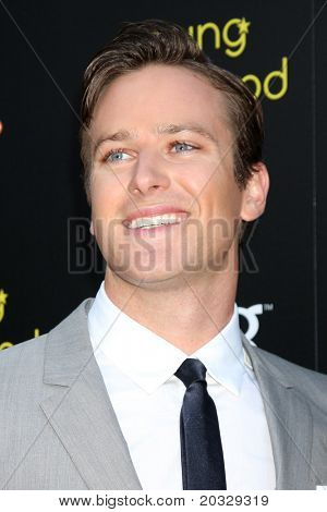 LOS ANGELES - MAY 20:  Armie Hammer arriving at the 2011 Young Hollywood Awards at Club Nokia at LA Live on May 20, 2011 in Los Angeles, CA