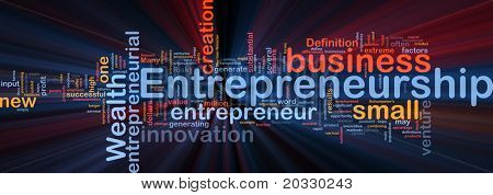 Background concept illustration of business entrepreneurship entrepreneur glowing light