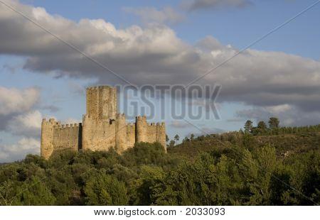 Castelo De Almourol And Clouds