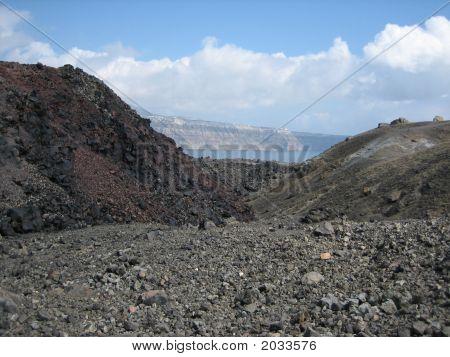Nea Kameni Volcanic Island;Santorini