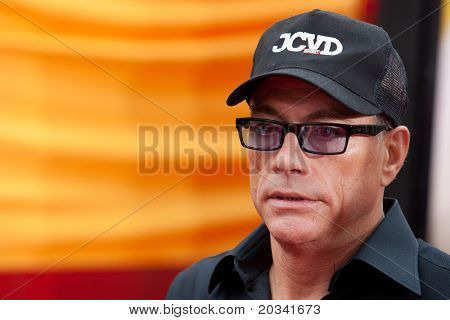HOLLYWOOD, CA. - MAY 22: Jean Claude van Damme arrives at the Los Angeles premiere of Kung Fu Panda 2 at Grauman's Chinese Theatre on May 22, 2011 in Hollywood, California.