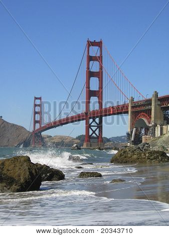 Golden Gate Bridge from Bakers Beach