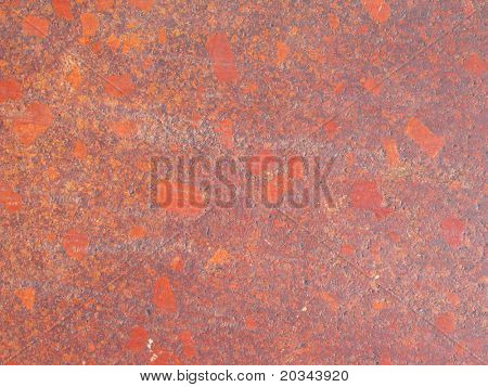 Red Porphyritic texture.