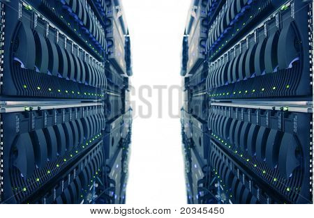 Computer Racks in Internet Data Center