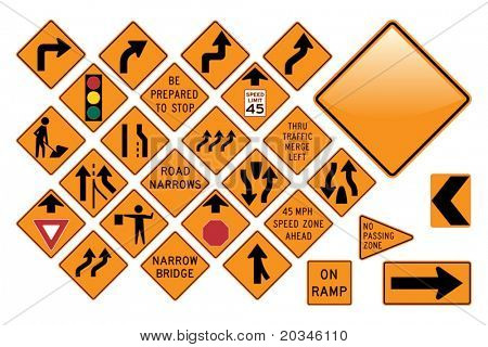 Road Sign Set - Emergency