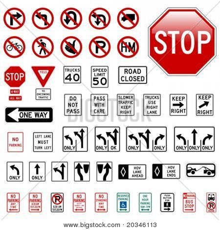 Road Sign Set - Regulatory
