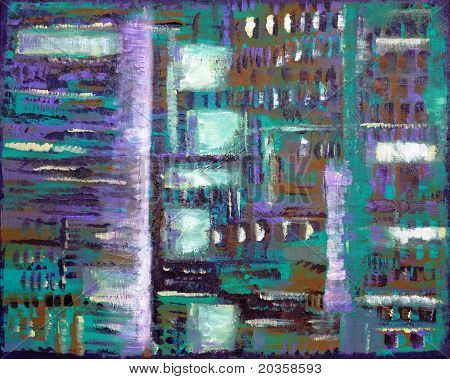 Batik Style Abstract Painting