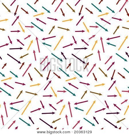 Seamless chaotic pattern with arrows