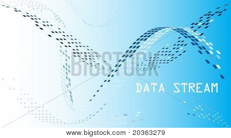 Data stream mosaic background