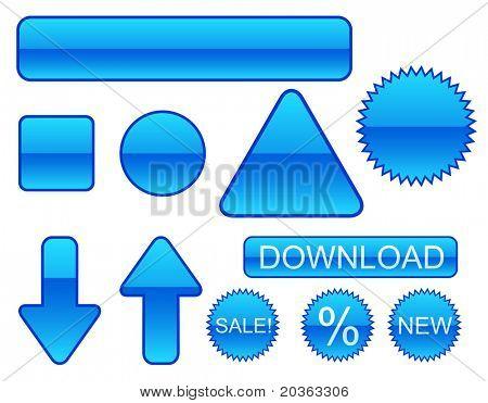 Glänzende Web Buttons und sticks