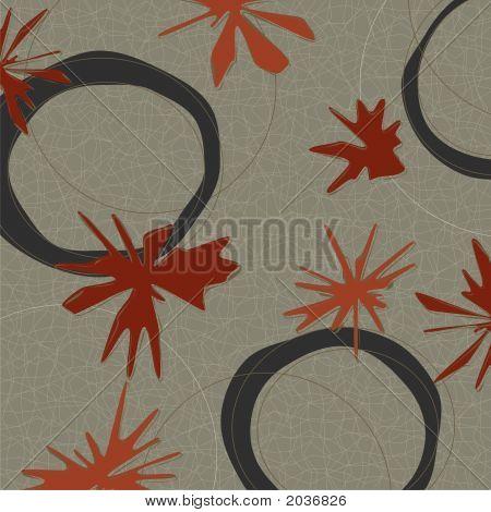 Retro Red Maple Weave