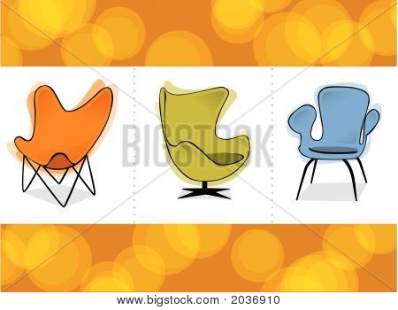 Retro Chair Trio
