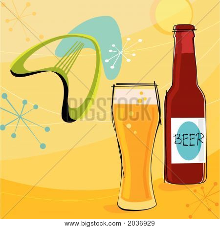 Retro Beer Motif