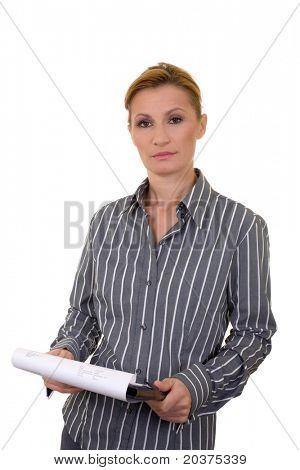 Reife geschäftsfrau in 40er Jahren, vertikale Porträt