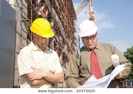 engineers at the construction site