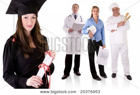 graduate university student choosing future occupation