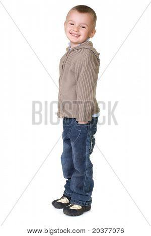 preschool boy in casual outfit