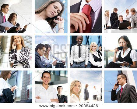 Unternehmen-Collage von vielen Geschäft Bilder gemacht