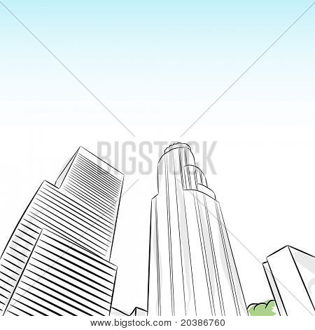 An image of a downtown los angeles financial district.
