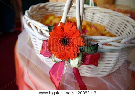 Rose petal basket