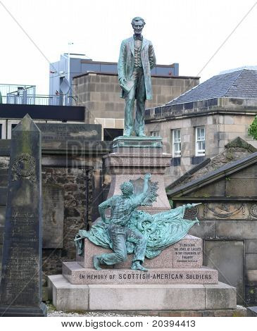 American Civil War Memorial In Edinburgh, Schottland