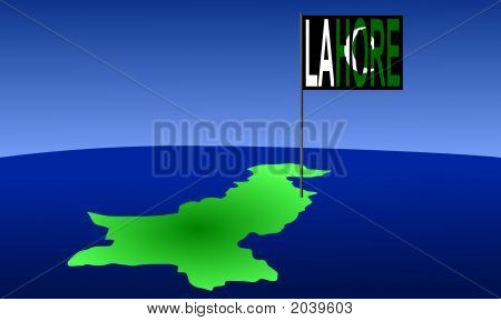 Lahore On Pakistan Map