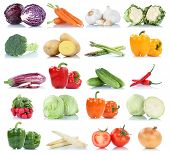 Collection Of Vegetables Bell Pepper Tomatoes Carrots Onion Fresh Food Vegetable Potatoes Isolated poster