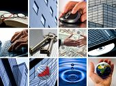 image of business-partner  - Conceptual image grid of business photos  - JPG