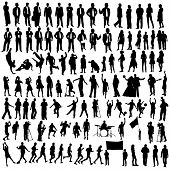 foto of young adult  - isolated silhouettes on the white background all made from my photos - JPG