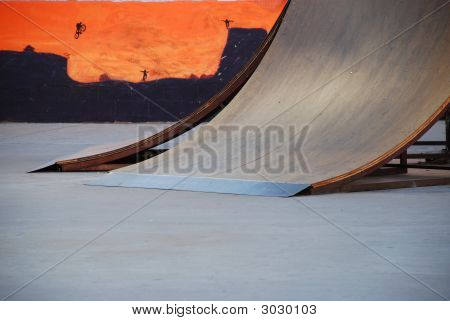 Skate Ramp With Mural