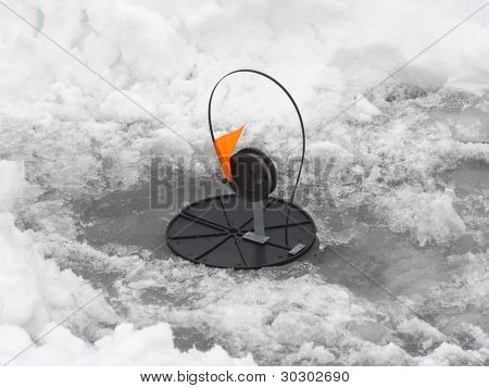 device for winter catch of fish