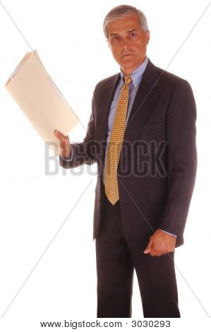Businessman With File Folder