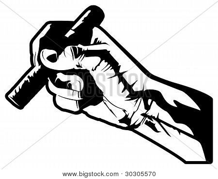 Hand With Cigar