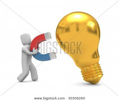 Magnet for new ideas. Image contain clipping path