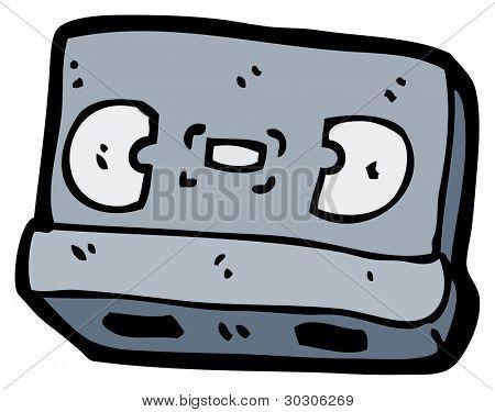retro videotape cartoon
