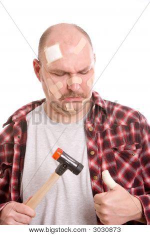 Hurting His Thumb