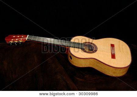 Handmade Acoustic Guitar Sideways