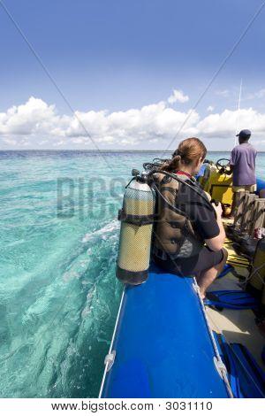 Divers Preparing To Dive In Zanzibar