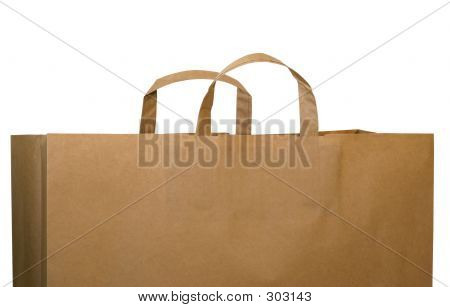 Brown Paper Bag With Path