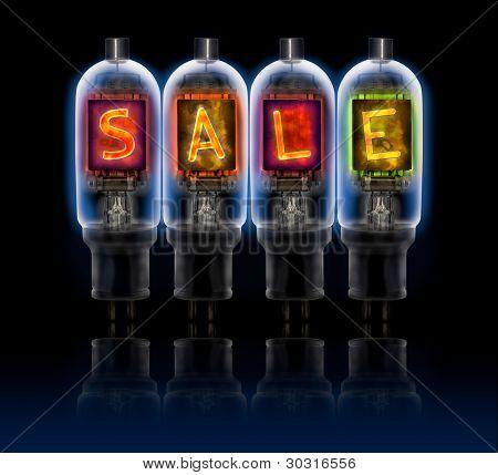 Word Sale  Made With A Row Of Bulbs