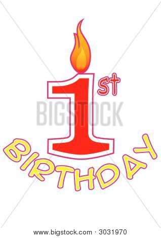 First Birthday Logo
