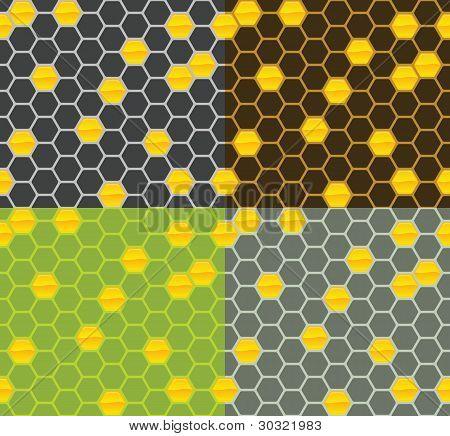 Vector Honey Comb Pattern