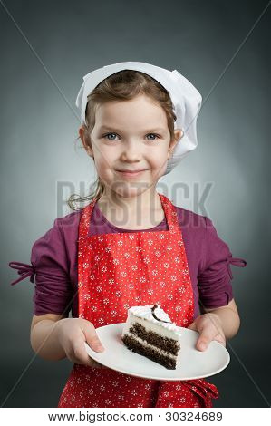 Little Girl With A Cake