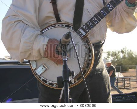 Man Picking Banjo