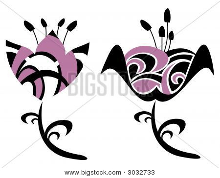 Design Elements- Abstract Flowers