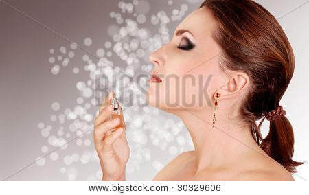 Young Lady Portrait With Perfume