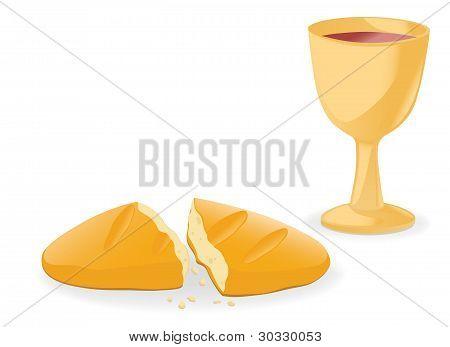 Comunhão - pão e vinho