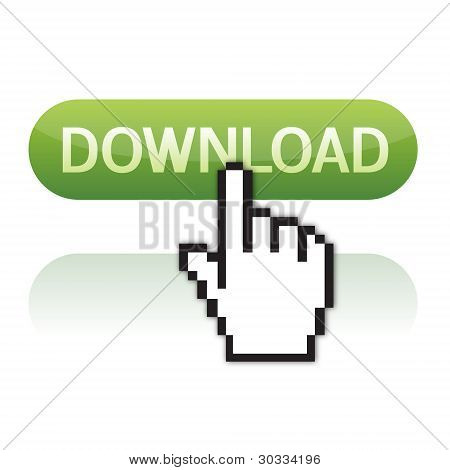 download button with cursor